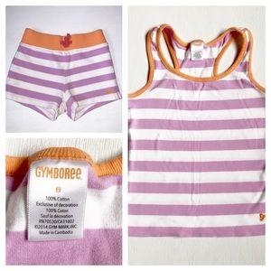 Gymboree striped cotton summer tank & shorts set